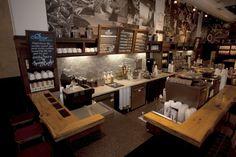 Clean Starbucks Cofee Kitchen Interior with Chalkboard Menu Decoration Ideas, 33 interior & furniture designs in The Best Starbucks Coffee Shop Interior Arround The World gallery