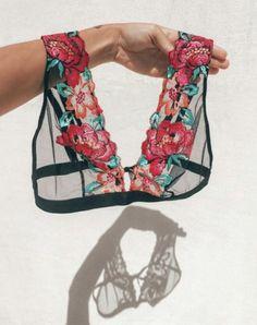 Lil See-through rose bra