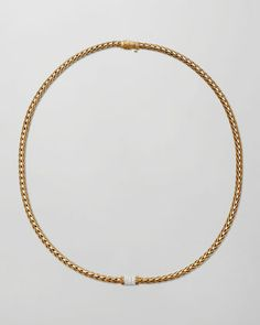 Classic Chain 18k Gold Diamond Necklace by John Hardy at Neiman Marcus.