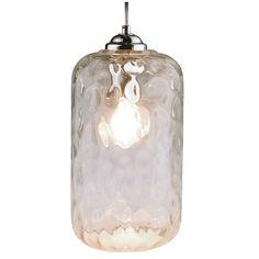 Cressida Ripple Glass Pendant Light – Chrome - All For Decoration Glass Pendant Light, Glass Pendants, Mason Jar Lamp, Light Fittings, Interior Lighting, Light Bulb, Chrome, Ceiling Lights, Staircases