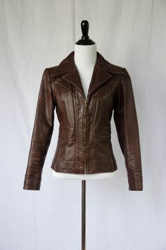 Vintage 1970's 'Foxy Brown' Abacus Tailored Leather Jacket  Size M by BeehausVintage on Etsy