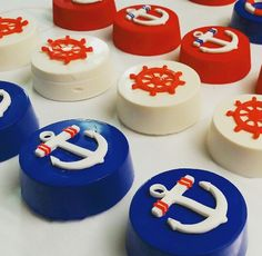 Nautical  chocolate covered oreos