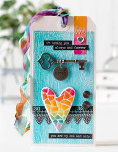 Tim Holtz April 12 tags with a Bright Twist