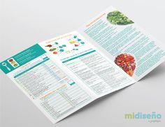 Diseño de Brochure Nutricional - Mi Diseño Web & Gráfico Costa Rica