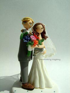 Customized Lovely wedding cake topper