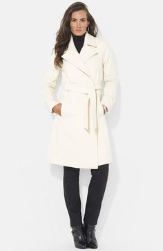 Free shipping and returns on Lauren Ralph Lauren Wool Blend Wrap Coat (Online Only) at Nordstrom.com. Exuding timeless elegance, a wrap coat topped with a wide notch collar is crafted from a warm wool blend infused with soft cashmere.