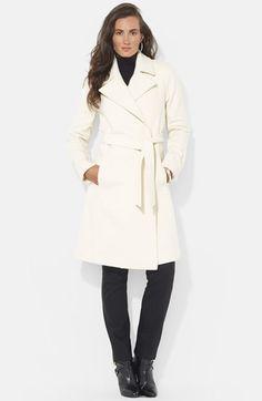 Lauren Ralph Lauren Wool Blend Wrap Coat (Online Only) available at #Nordstrom