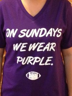 on Sundays we wear purple