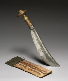 Knife, 1800s. Central Africa, Democratic Republic of the Congo, 19th century.