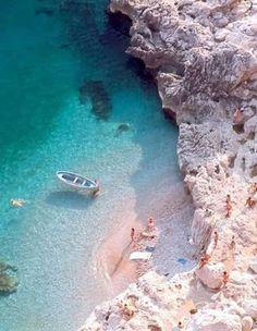 Blue Grotto (Capri) - Positano Beach, Capri Island, Isle Of Capri, I Love The Beach, Naples Italy, Beautiful Waterfalls, Fitflop, Island Life, Vacation Destinations