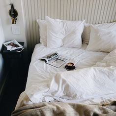 I just want that bed to be honest - and that coffee looks pretty great