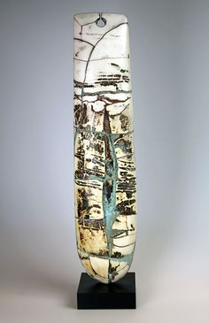 Ceramics by Peter Hayes at Studiopottery.co.uk - 2013/14. Raku _Totem_