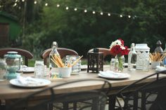 Table decorations #LiveAlfresco #SummerResolutions