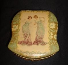 Victorian Celluloid Portrait Dresser Box 2 Pretty Young Girls w Nice Shaving Mug | eBay