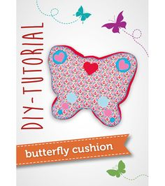 Free Pattern And Tutorial Butterfly Cushion Pattydoo Butterfly Pillow Pattern Free Easy Sewing Projects, Sewing Projects For Beginners, Sewing Tutorials, Sewing Ideas, Sewing Hacks, Felt Patterns, Sewing Patterns Free, Free Pattern, Sewing Pillows