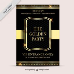 Luxury party poster Free Vector