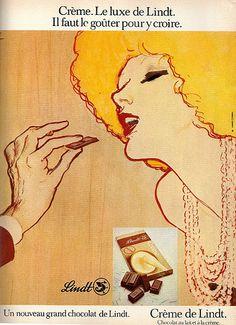 Crème de Lindt chocolate,,1 9 7 4, Femmes d'aujourd'hui magazine.