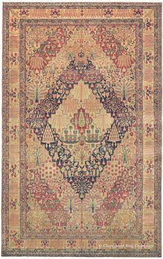 LAVER KIRMAN, Southeast Persian 7ft 4in x 11ft 8in 3rd Quarter, 19th Century