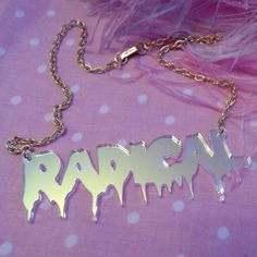 This girl I know made this RADICAL necklace, it's super cute!
