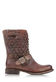 Distressed Rivet Boots