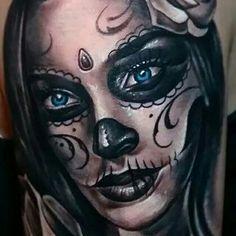 Chicano Tattoos, Body Art Tattoos, Hand Tattoos, Sleeve Tattoos, Skull Hand Tattoo, Sugar Skull Tattoos, Sugar Skull Girl, Sugar Skull Makeup, Badass Tattoos