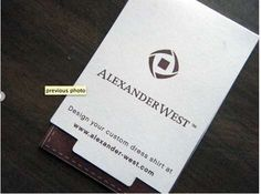 Alexander West Business Cards are as Functional as They are Creative #businesscards #design trendhunter.com