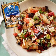 A Ratatouille Rigatoni recipe, inspired by the movie Ratatouille. Try saying that 3 times fast! http://www.rewards4mom.com/recipes-inspired-movies/