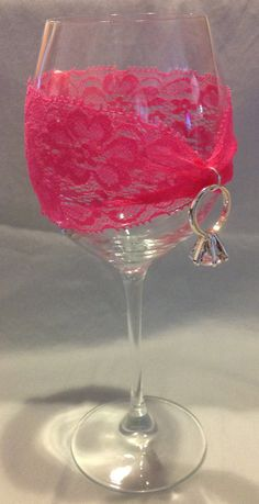 Bridal shower/ bachelorette party wine glass charm by PipBowtique, $10.00