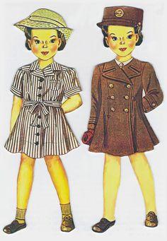 "WWII Art Print ""Medical Department WAC Paper Dolls"""