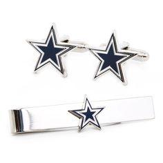 Dallas Cowboys Cufflinks and Tie Bar Gift Set