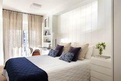 Base neutra e toques de cor em apartamento de 75 m²
