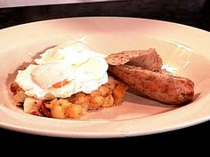 Get Three Potato Hash Recipe from Food Network Bacon Egg, Smoked Bacon, Potato Hash Recipe, Red Bliss Potatoes, Food Network Recipes, Cooking Recipes, Yellow Squash And Zucchini, What's For Breakfast, One Pot Meals
