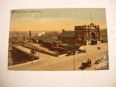Union station Omaha Nebraska Postcard by NeatstuffAntiques on Etsy, $24.99