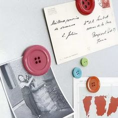 Button magnets - cute and simple!