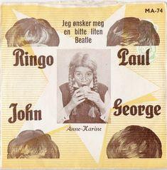 45cat - Anne-Karine - Ringo, Paul, John, George / Jeg Ønsker Meg En Bitte Liten Beatle - Manu - Norway - MA-74
