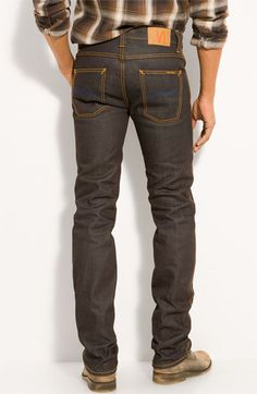 """Nordstrom: """"Nudie 'Slim Jim' Straight Leg Jeans"""" (I would love to have that ass!)"""