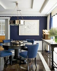 Indigo walls | interior design ideas and inspiration for the transitional home