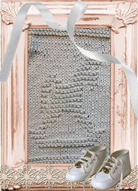 Knitted Washcloths Rocking Horse