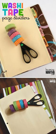 Make Your Own Washi Tape Organizer | 100 Creative Ways to Use Washi Tape at https://diyprojects.com/100-creative-ways-to-use-washi-tape/
