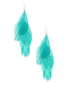 Feather Linear Earring - Teen Clothing by Wet Seal - StyleSays