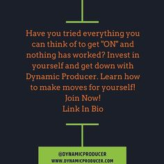 "Have you tried everything you can think of to get ""ON"" and nothing has worked? Invest in yourself and get down with Dynamic Producer. Learn how to make moves for yourself! Join Now!  http://ift.tt/JmQzAV  #musicbusiness #futureproducer #grammyproducer #musicproducerlife #producerlife #musicnetworking #producer #producermotivation #producergrind #produceroftheyear  #musicbusiness101 #musicbusinesslife #musicbusinessinterns #musicbusinessbasics #musicbusinessmanagement #musicbusinessconference…"