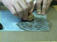 ▶ Tim Holtz - Masks - YouTube  Shows how to use masks with stamp ink, sprays, acrylics, sandpaper. Very cool.
