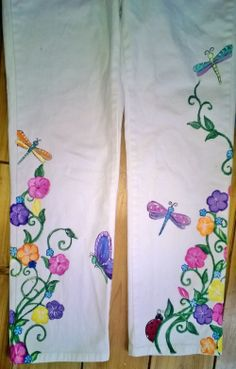Painted pants Created by Tracy Elkins