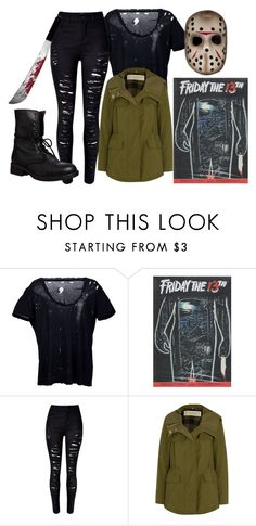 """""""† jason voorhees †"""" by princessieromustdie on Polyvore featuring Unravel, WithChic, Burberry, Steve Madden, costumes, fridaythe13th and jasonvoorhees"""