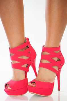 Show Me Love Heels: Raspberry - Use the promo code HOLLIREP to get 10% off of every order plus get FREE SHIPPING always!