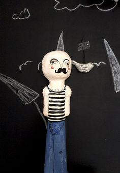 Paper Clay, Paper Mache, Paper Art, Sculpture Clay, Sculptures, Walks, Snoopy, Doll, Fictional Characters