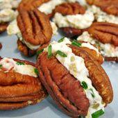 Creamy Pecan Mini-Sandwiches