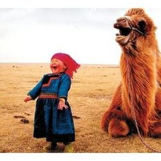 Mongolian girl with camel... makes my heart burst, I sooo love this!