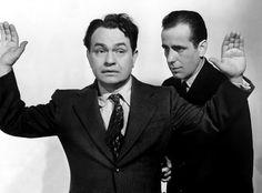 On old portrait of they ators #EdwardGRobinson and #HumphreyBogart
