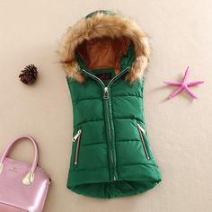 autumn and winter 2016 cotton vest with a hood patchwork cotton vest female reversible winter jacket women